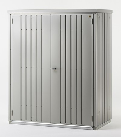 Biohort Geräteschrank 150 silber-metallic 155x83x182,5cm