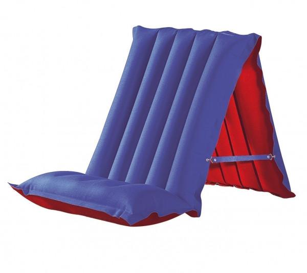 Luftmatratze / Sitz-Liegematratze blau/rot 198x72cm