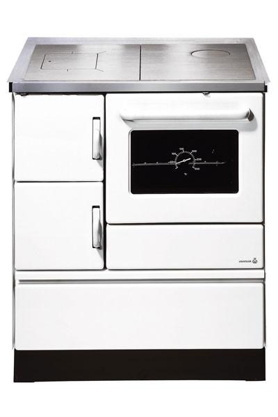 Küchenherd / Kohleherd Wamsler K128 weiß Stahlkochfeld Anschluß rechts