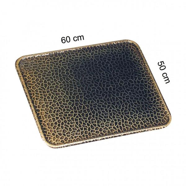 Funkenschutzplatte / Bodenblech KaminoFlam Messing gehämmert 50x60cm