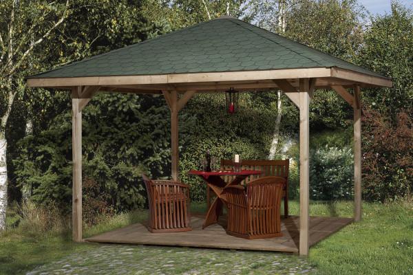 Weka Holzpavillon Gartenoase 651A Gr.1 kdi 433x433cm