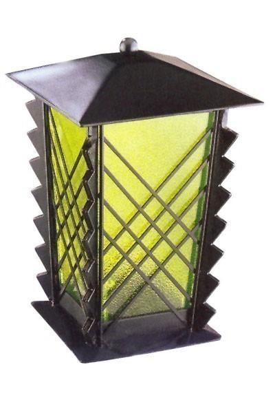 Grablampe / Grablaterne Stahl 21 cm Echtglaseinsatz