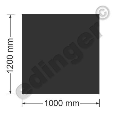 Funkenschutzplatte Bodenplatte 4-eckig schwarz 1200x1000 mm