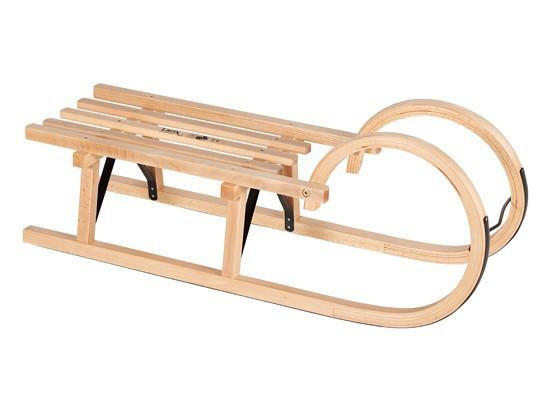 Holzschlitten / Hörnerrodel Ress mit Lattensitz 100 cm