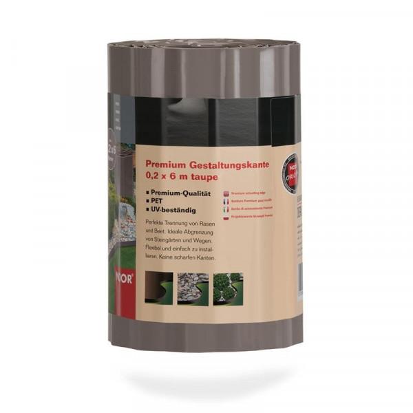 Rasenkante / Gestaltungskante Premium taupe B 20cm / L 6m