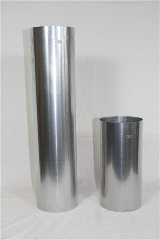 Ofenrohr / Rauchrohr FAL Ø80mm Länge 1000mm