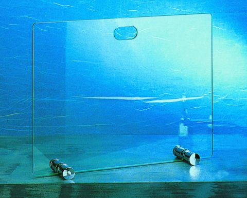 Funkenschutz - Funkenschutzglas Lienbacher Chrom 65x50cm