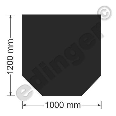 Funkenschutzplatte Bodenplatte 6-eckig Senotherm schwarz 1200x1000 mm