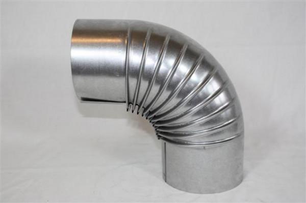 Ofenrohr / Rauchrohr FAL Bogenknie 90° Ø80mm ohne Tür