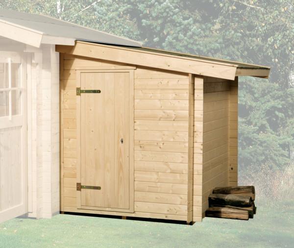 Anbauschuppen zu Weka Gartenhaus 28 - 45 mm natur 150x250cm