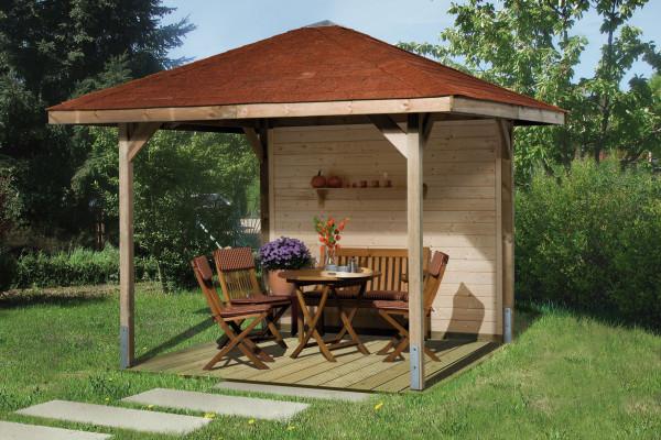Weka Holzpavillon Gartenoase 651 Gr.2 kdi 333x333cm