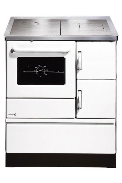 Küchenherd / Kohleherd Wamsler K128 weiß Stahlkochfeld Anschluß links