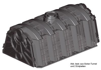 Sicker-Tunnel Set LKW befahrbar 900 Liter GRAF 230024