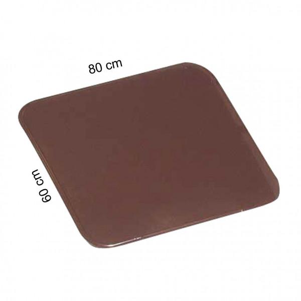 Funkenschutzplatte / Ofenblech KaminoFlam braun pulverbesch. 60x80cm