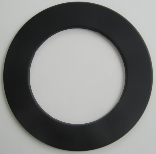 Ofenrohr / Rauchrohr Rosette schwarz Ø180mm
