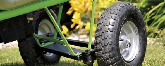 Hinterräder / Doppelachse für Elektro Schubkarre MOTOkarre Standard