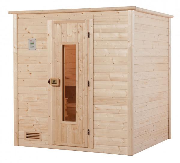 Weka Sauna Bergen 1 45mm ohne Ofen mit Holztür