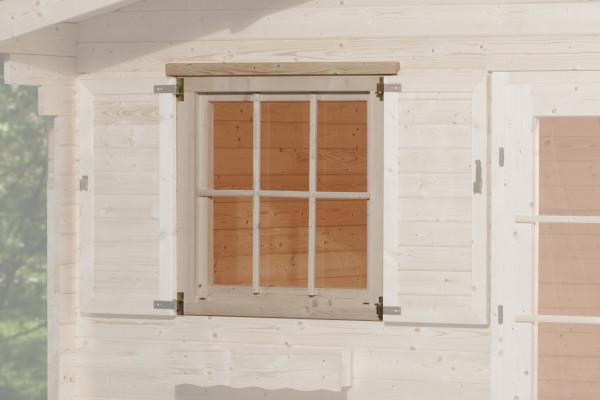 Gartenhausfenster für Wandstärke 45 mm 91x91cm