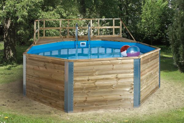 Massivholz-Schwimmbad Weka 593 B Gr.2 Sparset 571x471 Ø 500cm