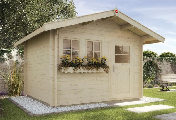 Weka Blockbohlenhaus 45 mm Gartenhaus 139A Gr.1 natur 380x320cm