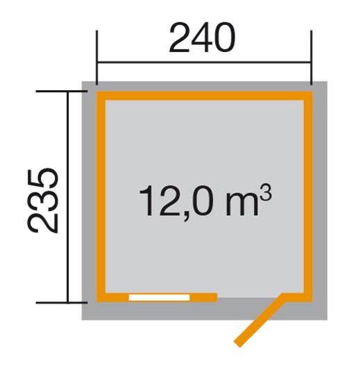 Gerätehaus Holz 28 Mm Weka Gartenhaus 123 Gr 2 Rot 306x274cm