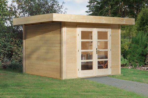 Weka Gartenhaus 28 mm Designhaus 126 Gr.3 natur 356x388cm VD 50cm