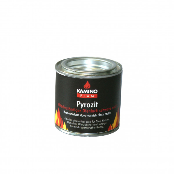 Ofenlack Pyrozit KaminoFlam schwarz matt 100 ml