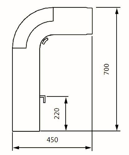 Ofenrohr / Rauchrohr - Set Fullform Ø150mm Senotherm grau