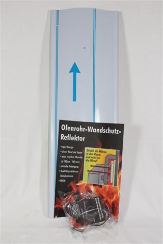 Wandschutzreflektor Alu Länge 650mm für Ø80mm bis 130mm