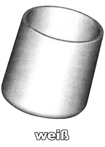 SIEGER Fußkappen Set Gartentisch Ø 25 mm weiß