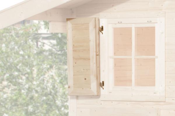 Fensterladen für Weka Gartenhaus 2-teilig einseitig 91x91cm